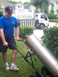 replaceing soft water tanks
